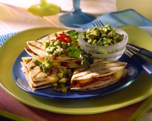 Grilled Turkey and Brie Quesadillas